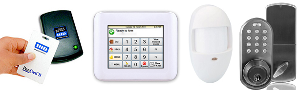 a variety of security sensors